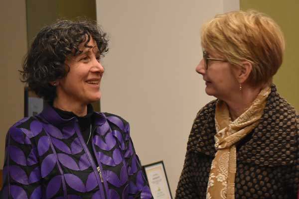 Karen Fingerman and Deb Umberson at the Texas Aging & Longevity Center launch
