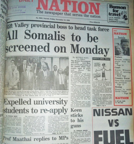 One of the newspapers Feghali used in discourse analysis. The screening discussed exemplifies systemic discrimination against Somalis.