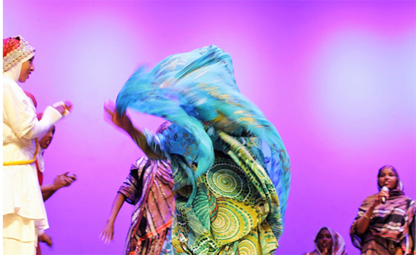 Somali women perform at the 4th annual Somali Heritage Week, where the Somali community connects with people across Kenya to showcase and celebrate Somali issues and culture.