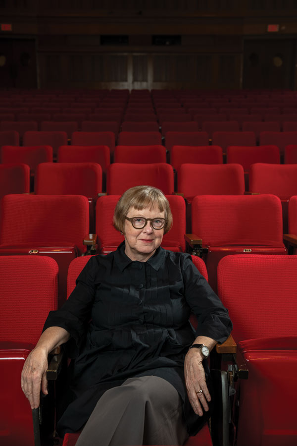 Photo of Sabine Hake in an empty movie theater