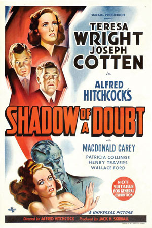 Movie poster for Shadow of a Doubt