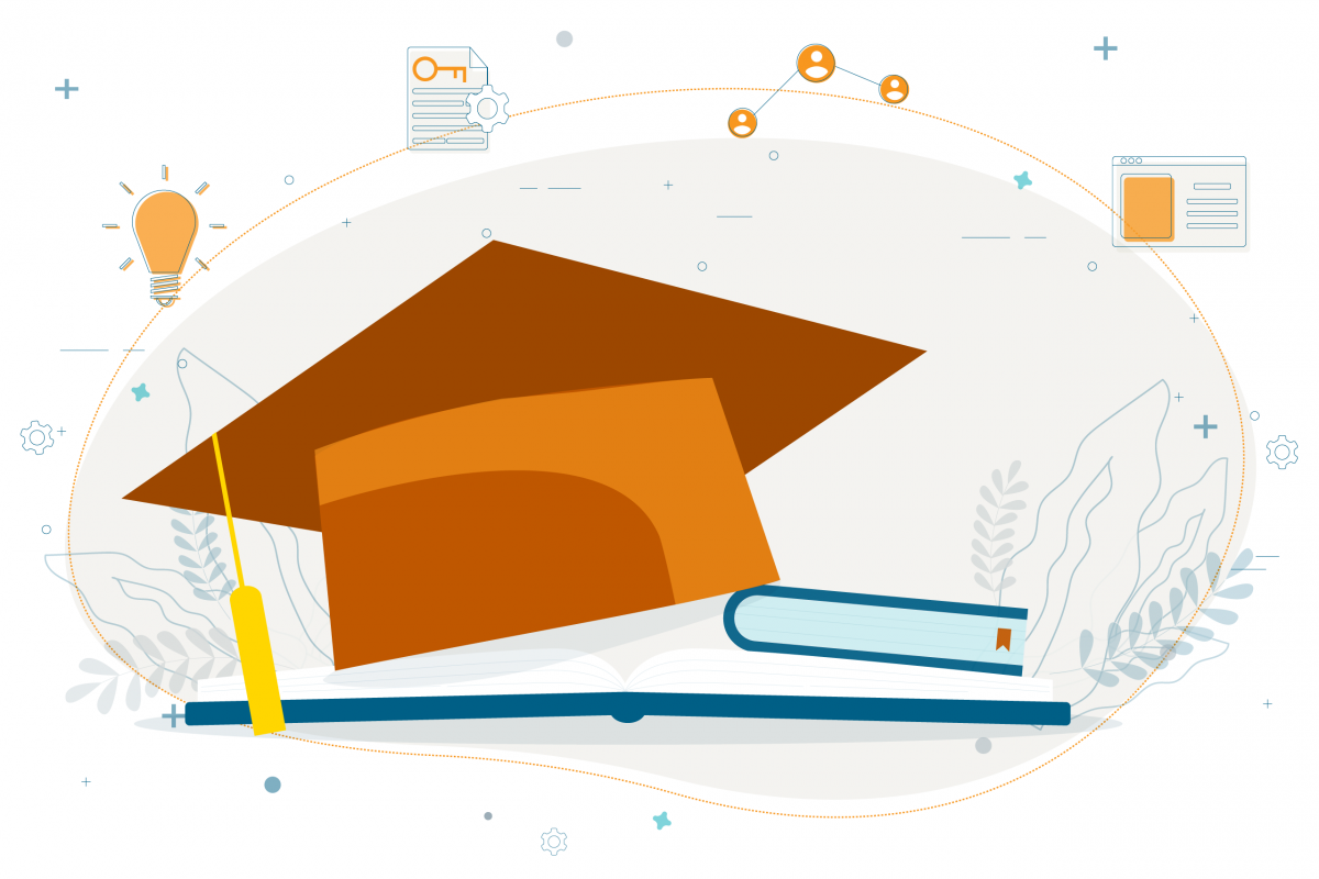 illustration of graduation cap