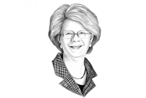 Illustration of Beth Mooney.