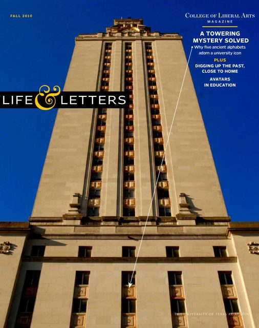 Fall 2010 cover of Life & Letters