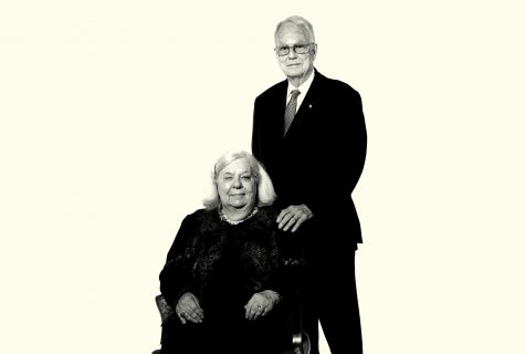 Portrait of Max & Sylvia Miller.