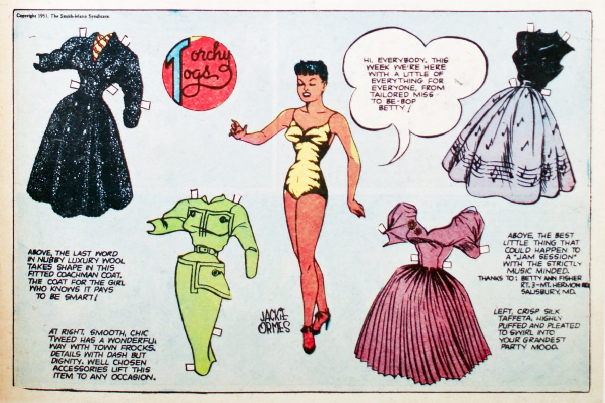 Comic book panel from Jackie Ormes'