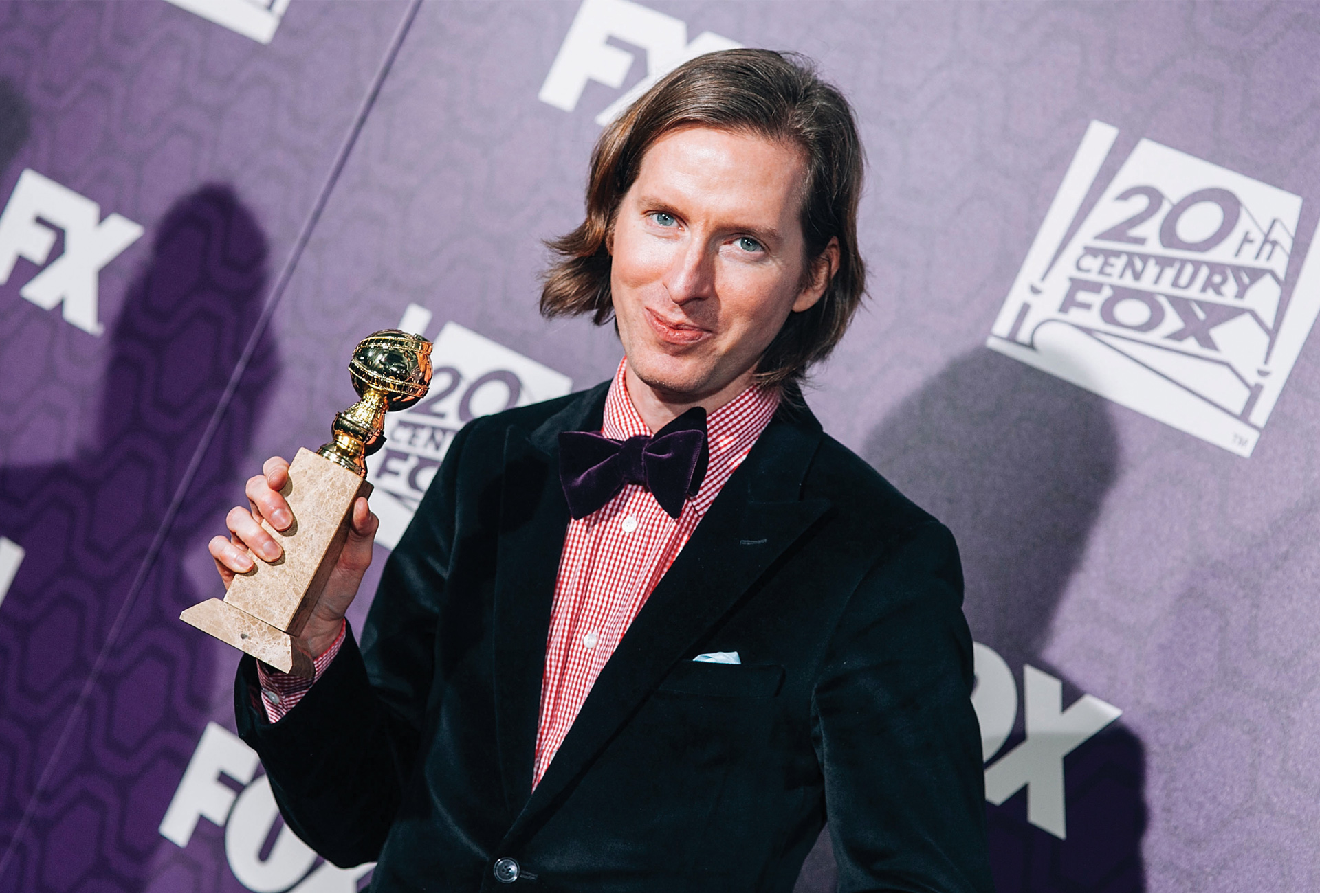 Wes Anderson (Philosophy '90) arrives for the 2015 FOX Golden Globes party at FOX Pavilion on Jan. 11 in Beverly Hills, Calif.