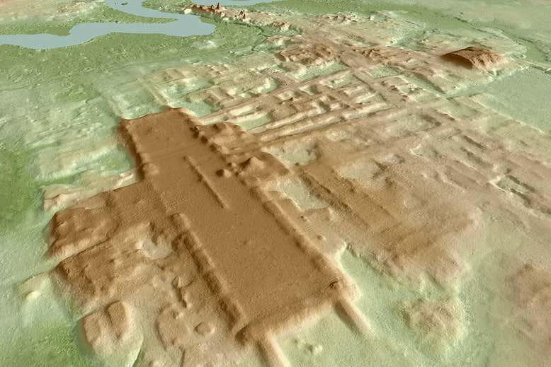 LIDAR imagery of Aguada Fénix.