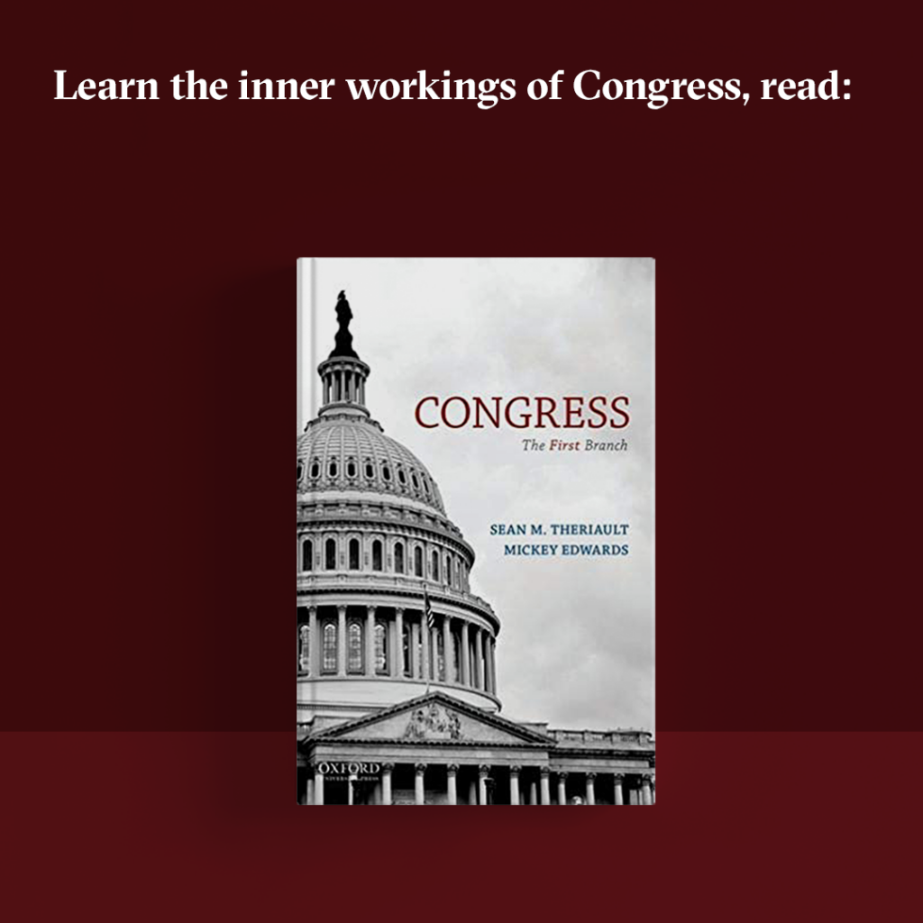 "Book cover for ""Congress: The First Branch."""