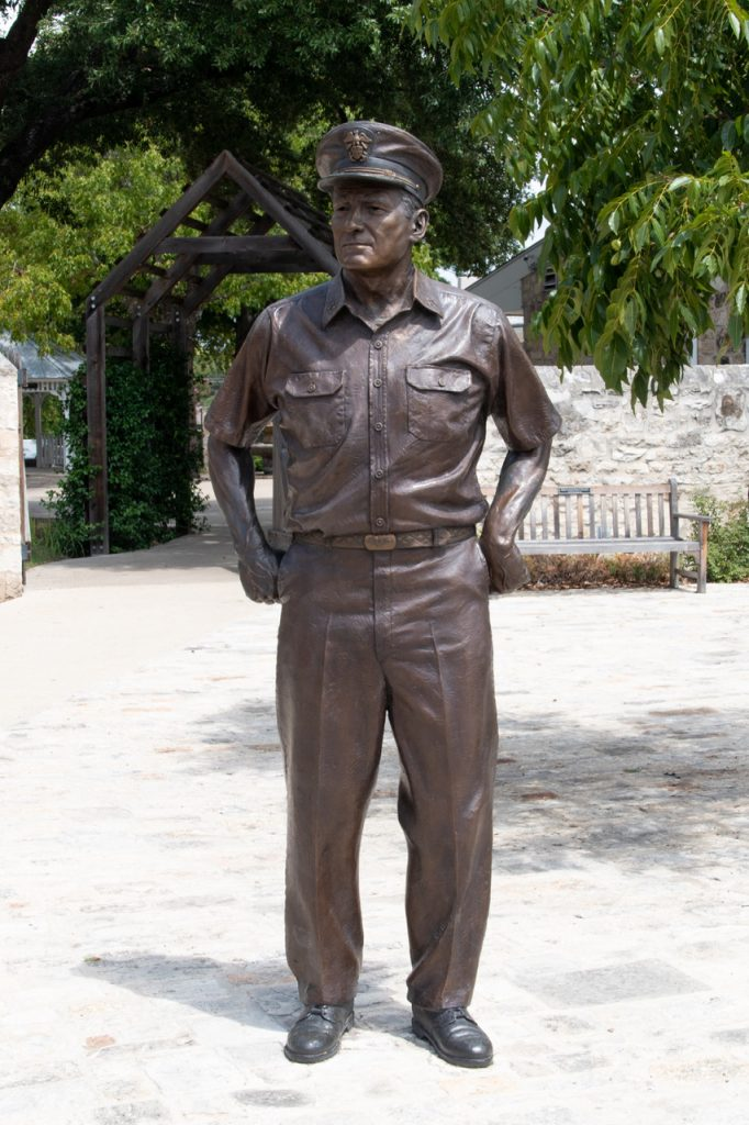 Statue of military figure.