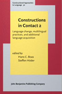 """Book cover for """"Constructions in Contact 2."""""""