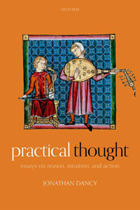 """Book cover for """"Practical Thought: Essays on Reason, Intuition, and Action."""""""