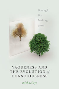 """Book cover for """"Vagueness and the Evolution of Consciousness: Through the Looking Glass."""""""