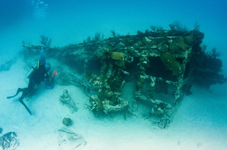 AI spots shipwrecks from the ocean surface – and even from the air
